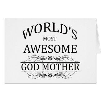 La madre más impresionante de dios del mundo tarjeta de felicitación