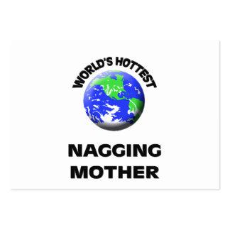 La madre que regaña más caliente del mundo tarjeta de negocio