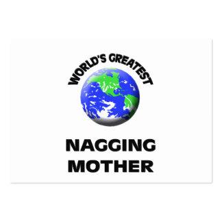 La madre que regaña más grande del mundo tarjetas de negocios