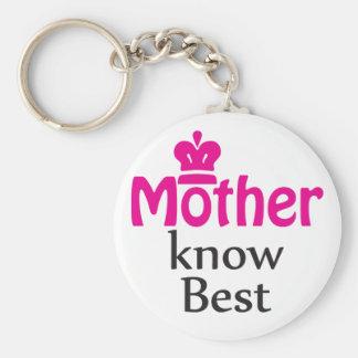 la madre sabe mejor llavero redondo tipo pin