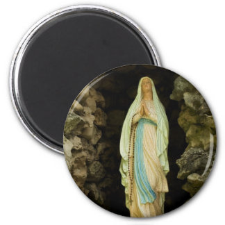 La madre santa imán redondo 5 cm
