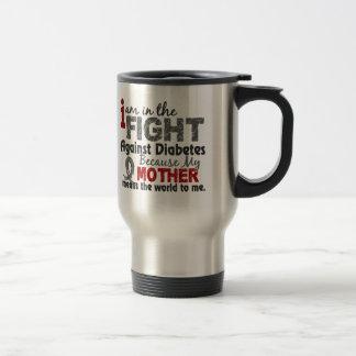 La madre significa el mundo a mí diabetes taza de viaje de acero inoxidable