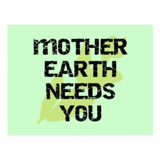 La madre tierra le necesita las camisetas y los tarjeta postal
