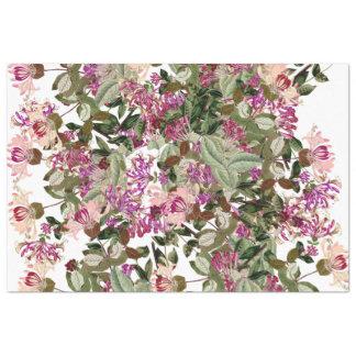 La madreselva florece el papel seda floral del papel de seda extragrande