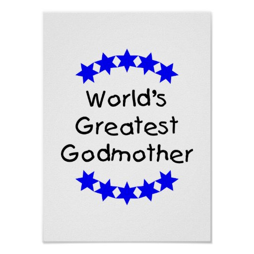 La madrina más grande del mundo (estrellas azules) impresiones
