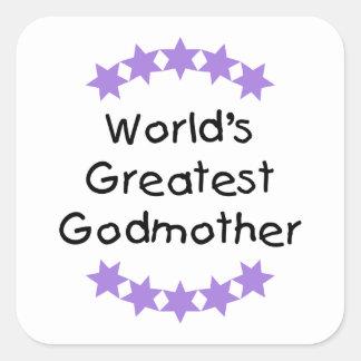 La madrina más grande del mundo (estrellas de la pegatina cuadrada
