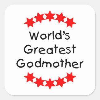 La madrina más grande del mundo (estrellas del pegatina cuadrada