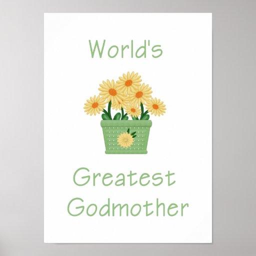 La madrina más grande del mundo (flores amarillas) poster