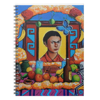 La Maestra Frida de Ofrenda para Libretas Espirales