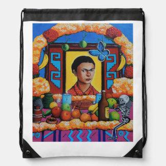 La Maestra Frida de Ofrenda para Mochilas