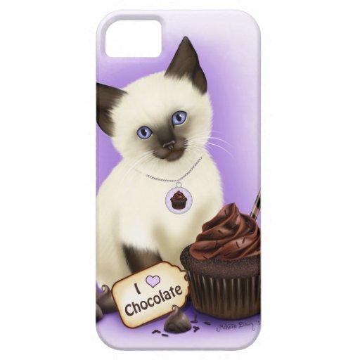 La Magda de siamés del iPhone 5 del chocolate del  iPhone 5 Carcasa
