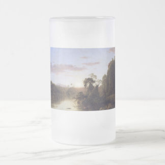 La Magdalena by Frederick Edwin Church Frosted Glass Beer Mug