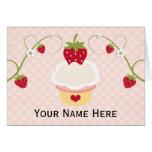 La magdalena de la fresa le agradece las tarjetas