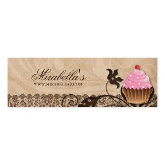 La magdalena de la panadería cuece cumpleaños de tarjetas de visita mini