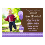 La magdalena hincha cumpleaños púrpura de la foto  invitaciones personales