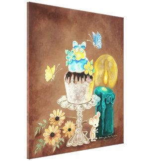 La magdalena, la vela, y el ratón lona envuelta para galerias