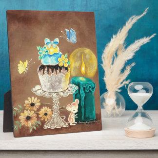La magdalena, la vela, y el ratón placas con fotos