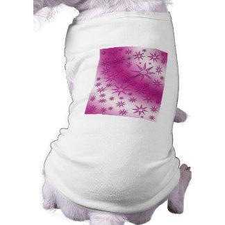 La magenta asolea el modelo inconsútil camisetas de perro