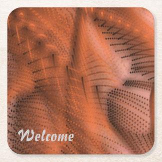 la magia colorea el naranja 03 posavasos personalizable cuadrado