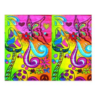 la magia colorida prolifera rápidamente postal