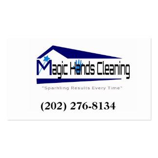 La magia da servicio de la limpieza tarjetas de visita