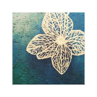La magia de colores - azul con el tinte de la impresiones en lona estiradas