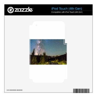 La magia de la vía láctea desea lago y los picos calcomanías para iPod touch 4G
