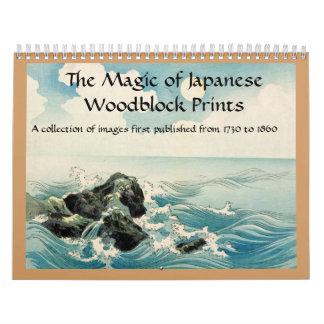 La magia de las impresiones de Woodblock del Calendarios