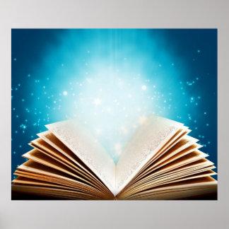 La magia de libros y de la lectura por amor póster