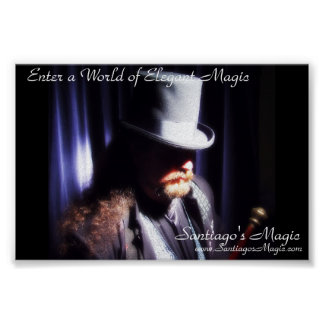 La magia de Santiago - poster del gorra de la somb