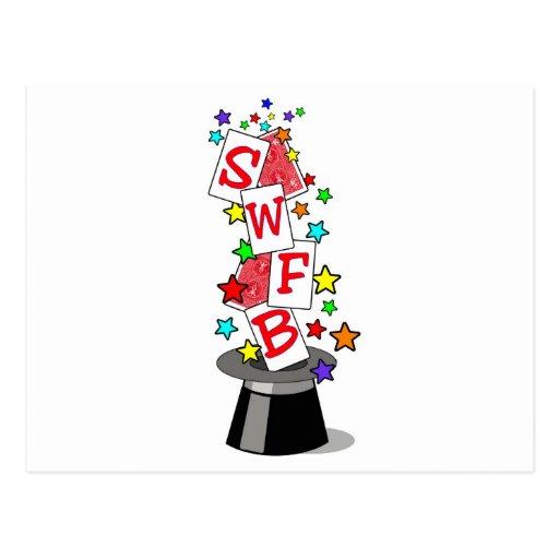 La magia de SWFB muestra el logotipo #2 Tarjetas Postales