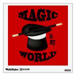 La magia del mago es mi etiqueta de la pared del m