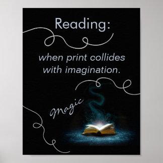 La magia del poster de la instrucción de la lectur