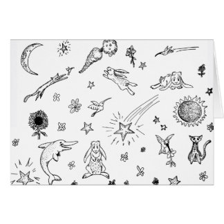 La magia Doodles notecard Tarjeta Pequeña