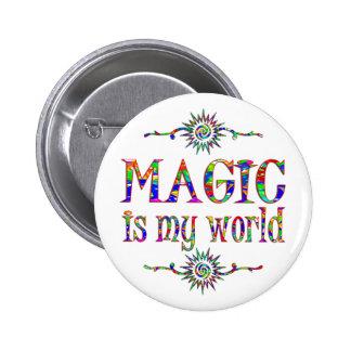 La magia es mi mundo pin redondo de 2 pulgadas