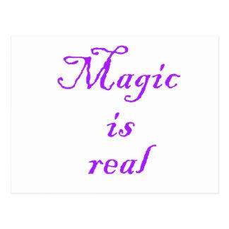 La magia es Real-postal