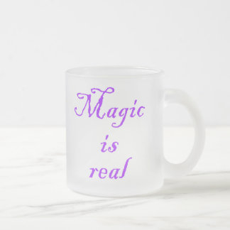 La magia es Real-taza Taza De Cristal
