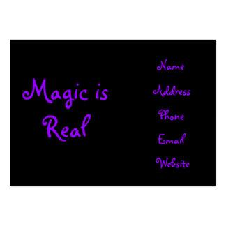 La magia es tarjetas del Real-negocio Tarjetas De Visita Grandes