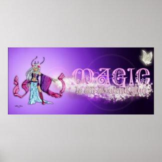 La magia es todo alrededor de usted poster