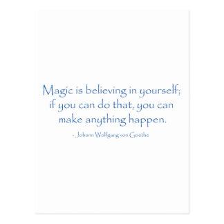 La magia está creyendo postal