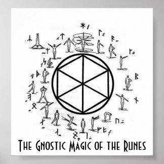 La magia gnóstica de las runas póster