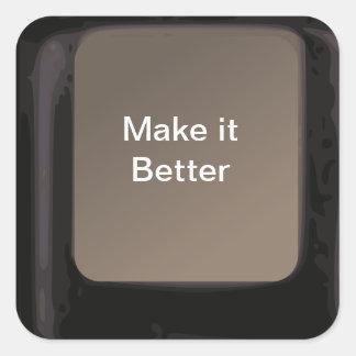 La magia le hace que un mejor botón consigue calcomanía cuadradas personalizadas