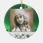 La MAGIA REMOLINA PLANTILLA de la FOTO, jade verde Ornamento Para Reyes Magos