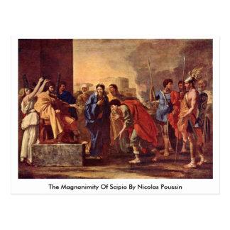 La magnanimidad de Scipio de Nicolás Poussin Tarjetas Postales