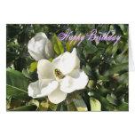 La magnolia cumpleaños-añade sus propias palabras tarjetón