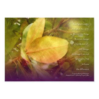 """La magnolia del rezo de la serenidad sale de la invitación 5"""" x 7"""""""