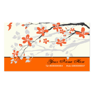 La magnolia florece el naranja de la mandarina tarjetas de visita
