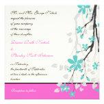La magnolia florece la turquesa, boda de las rosas anuncios