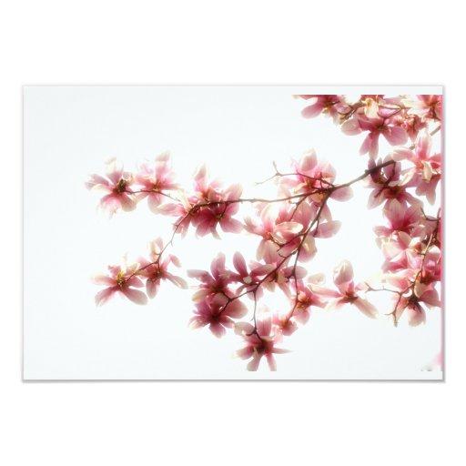 """La magnolia florece tarjeta de RSVP Invitación 3.5"""" X 5"""""""
