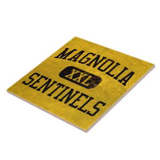 La magnolia hace centinela el atletismo azulejo cuadrado grande
